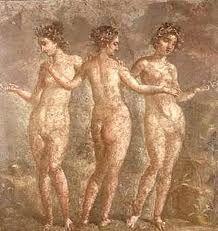 pinturas pompeya - las tres gracias