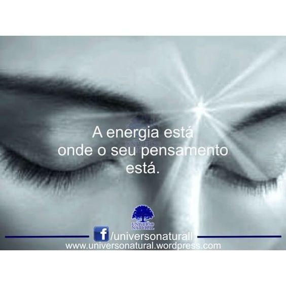 O pensamento é energia, não energia física, mas parte de um continuum de energia espiritual que afeta e é parte da vida como um todo. Quanto mais puro, mais claro e mais cheio de luz for o pensamento, mais potente ou dirigida pode ser a energia que o libera.http://bit.ly/1usf0mF #universonatural #mergulhointerior #limpezaenergetica