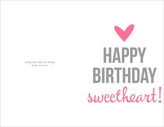 Happy Birthday Card Printable | Happy birthdays, Husband birthday ...