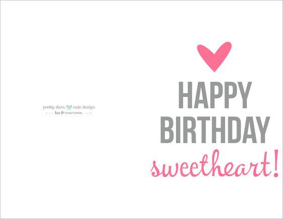 Happy Birthday Card Printable | Cute designs, Birthdays and Happy