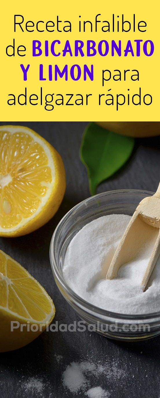 El bicarbonato y limon sirve para bajar de peso