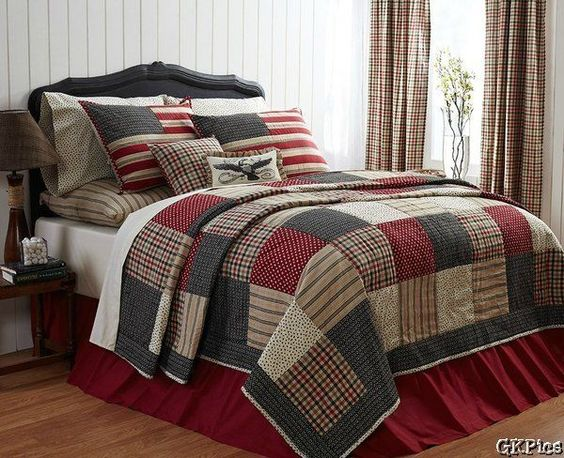 Victory 4 Pc Patchwork Quilt Bedding Set Queen Americana