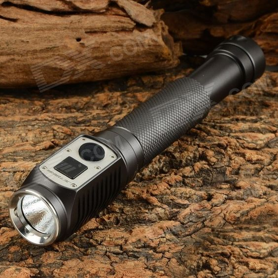 JETBeam DDA20 Outdoor 285lm 4-Mode Cool White Light LED Digital Display Flashlight - Black (2 x AA). Light intensity: 4500cd; - Easily operation of side control switch; - Constant current circuit, constant brightness; - Waterproof: IPX8; - Material: aerospace-grade aluminum alloy; - Military specification Type III- hard anodized body; - Weight: 99g (without battery); - Dimension: 161 mm (L) x 25 mm(D); - Modes display: the flashlight shows the current mode when it is power on; H (High), E…