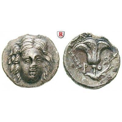 Karien - Inseln, Rhodos, Drachme 205-190 v.Chr., ss-vz: Drachme 15 mm 205-190 v.Chr. Magistrat Stasion. Kopf des Helios fast von… #coins