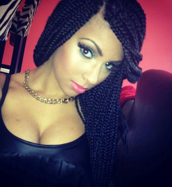 Cool Box Braids Braid Extensions And Protective Styles On Pinterest Hairstyle Inspiration Daily Dogsangcom