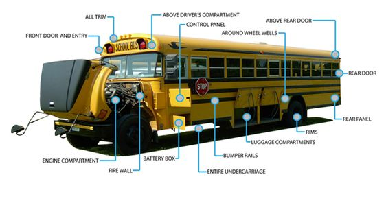 school buses engine and buses on
