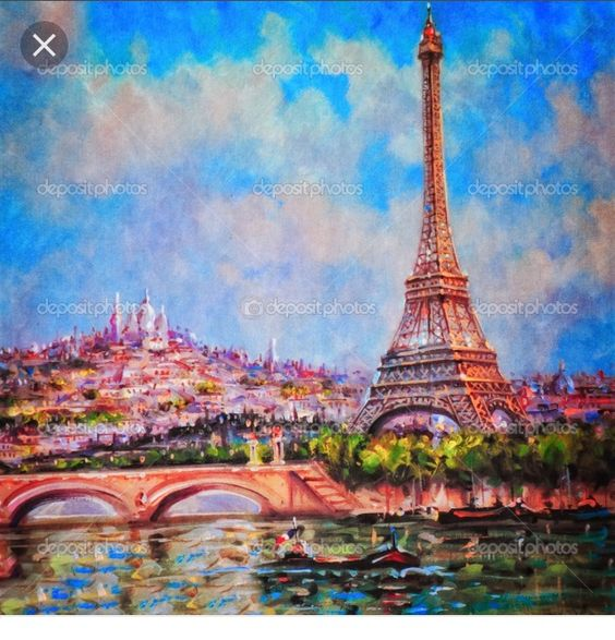 Once again,a painting I painted of the Eiffel Tower