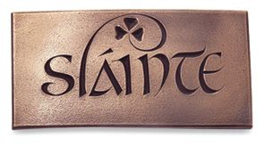 slainte plaque health good cheer irish blessings sayings symbols pinterest bar. Black Bedroom Furniture Sets. Home Design Ideas