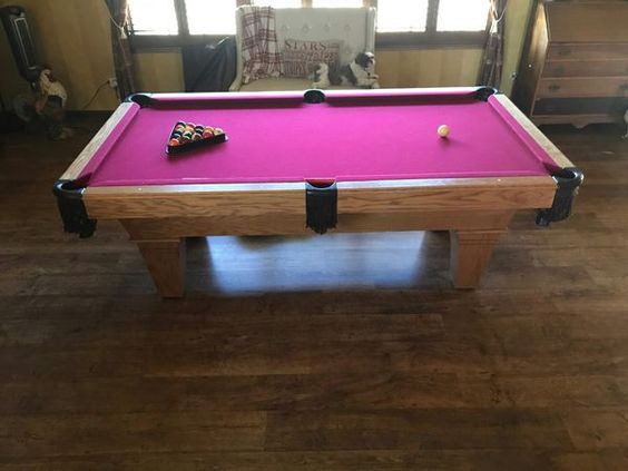 Genuine 7' Slate Pool Table