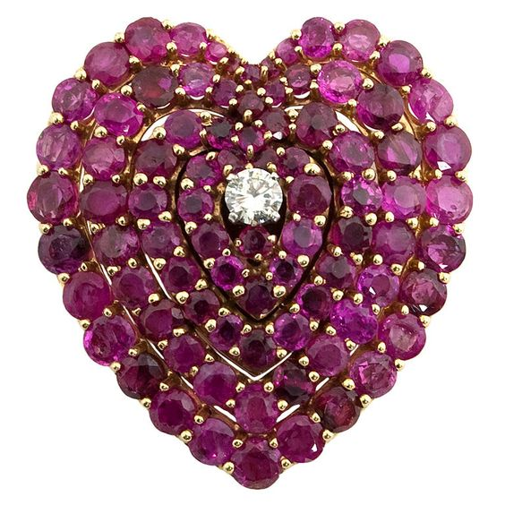 1stdibs - Ruby and Diamond Heart explore items from 1,700  global dealers at 1stdibs.com:
