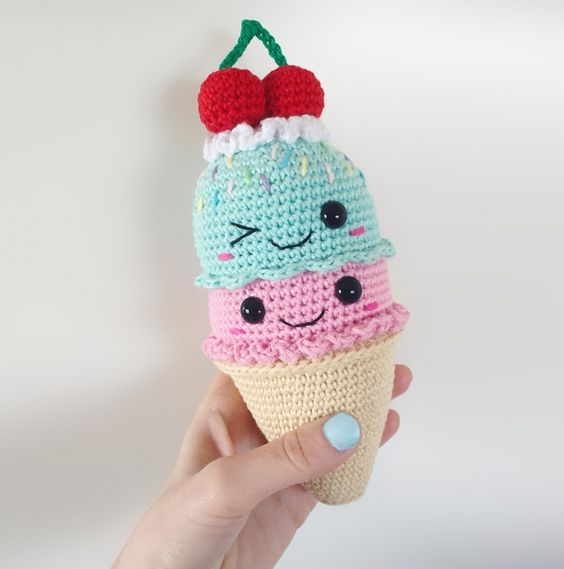 Amigurumi Ice Cream Cone Free Pattern : Big Ice Cream Cone amigurumi pattern by Super Cute Design ...