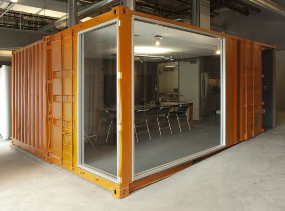Shipping Container Conference Room for Honda