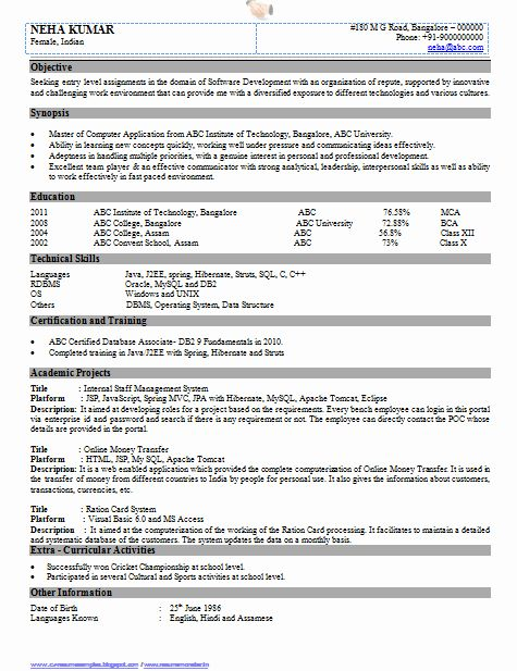 Software Engineer Resume Template Word Elegant Over Cv And Resume Samples With Free Download Resume Format For Freshers Resume Format Resume Format In Word