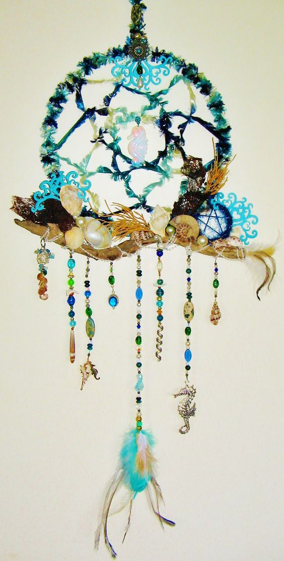 Sea Witch: #Sea #Witch ~ Seashell and driftwood dream catcher.