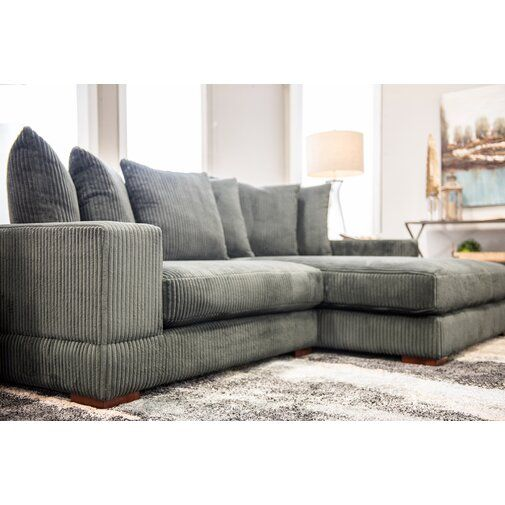Luxe Right Hand Facing Sectional Sectional Sofa Comfy Sectional Sofa With Chaise Deep Sofa Comfy Couches