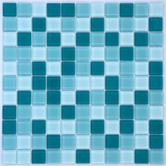 Mosaikmatte Glas Türkis Mix Translucent 30 cm x 30 cm im OBI Online-Shop