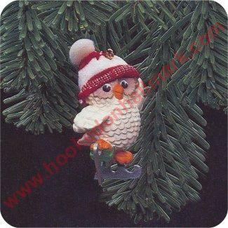 1985 Ice Skating Owl - DB