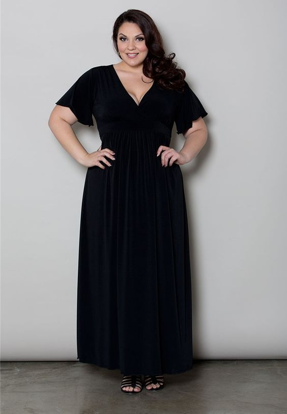 Classic Maxi Dress - Black at Curvalicious Clothes Trendy Curvy | Plus Size Fashion | Fashionista | Shop online at www.curvaliciousclothes.com TAKE 15% OFF Use code: SVE15 at checkout