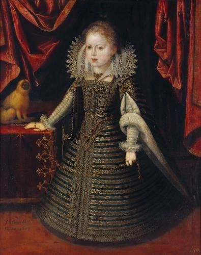Juan Pantoja de la Cruz. Infantin Anna, Konigin von Frankreich, 1604