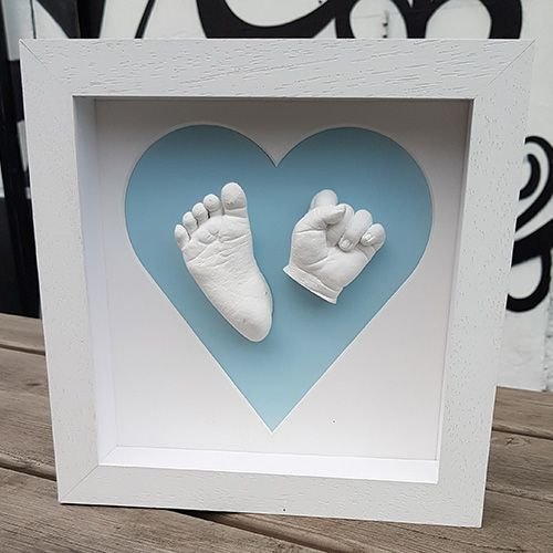 Large 3D Baby Casting Kit Hand /& Feet Cast Natural Pine Wood Photo Display Frame