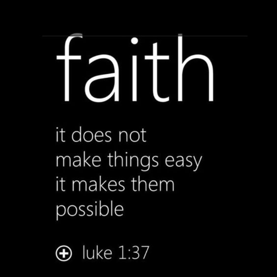 """""""Nothing is impossible with God."""" (Luke 1:37)"""