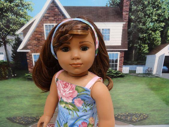 Tahitian Beauty  Sundress for American Girl by cupcakecutiepie, $38.00