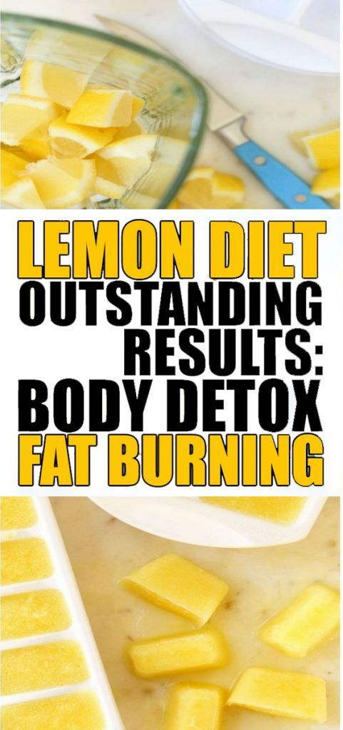 lemon detox diet reduced body fat
