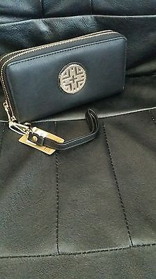$10! Free Shipping!  Designer Inspired Double Zipper Wallet,  Black