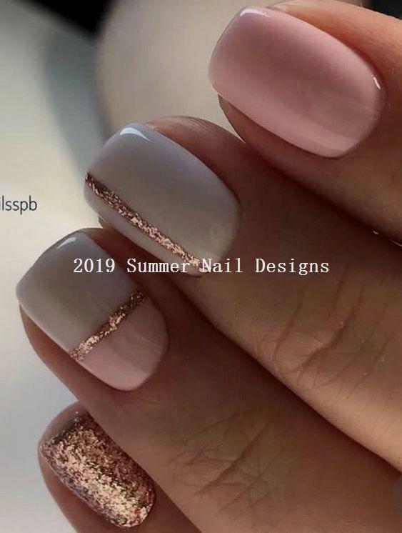 33 Cute Summer Nail Design Ideas 2019 Nail White Nail Designs