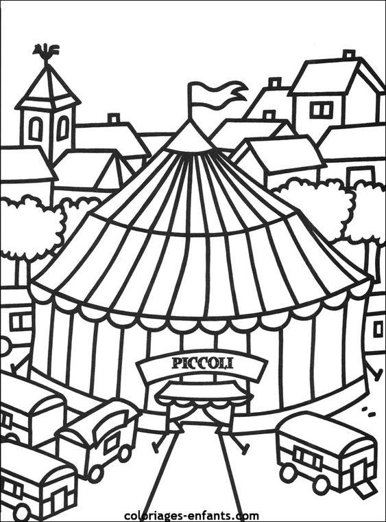 Les coloriages d 39 cirque imprimer sur coloriages enfants - Coloriage chapiteau ...