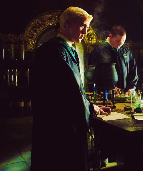 In the potions lab.