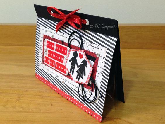 Cartão romântico em scrapbook #tkscrapbook