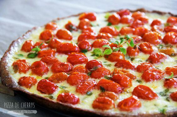 Pizza Integral de Cherrys Glaseados | Cocinar en casa es facilisimo.com