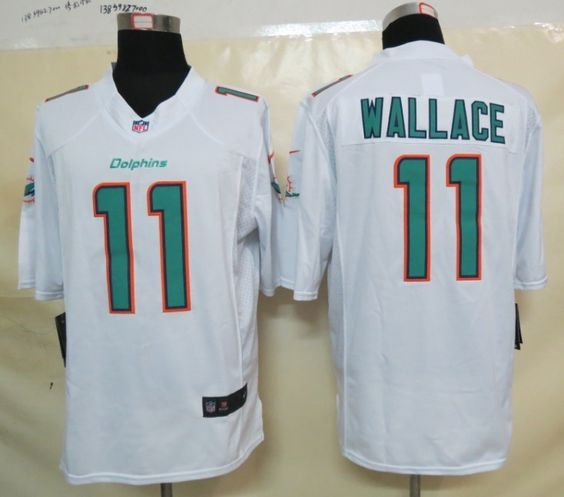 f252353a3 Nike Miami Dolphins 11 Mike Wallace 2013 White Limited New Logo Jersey  Miami Dolphins Jerseys Pinterest ...