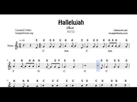 Hallelujah By Leonard Cohen Sheet Music For Piano Shrek Ost Piano