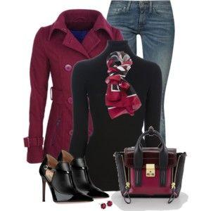 Zip pocket pea coat