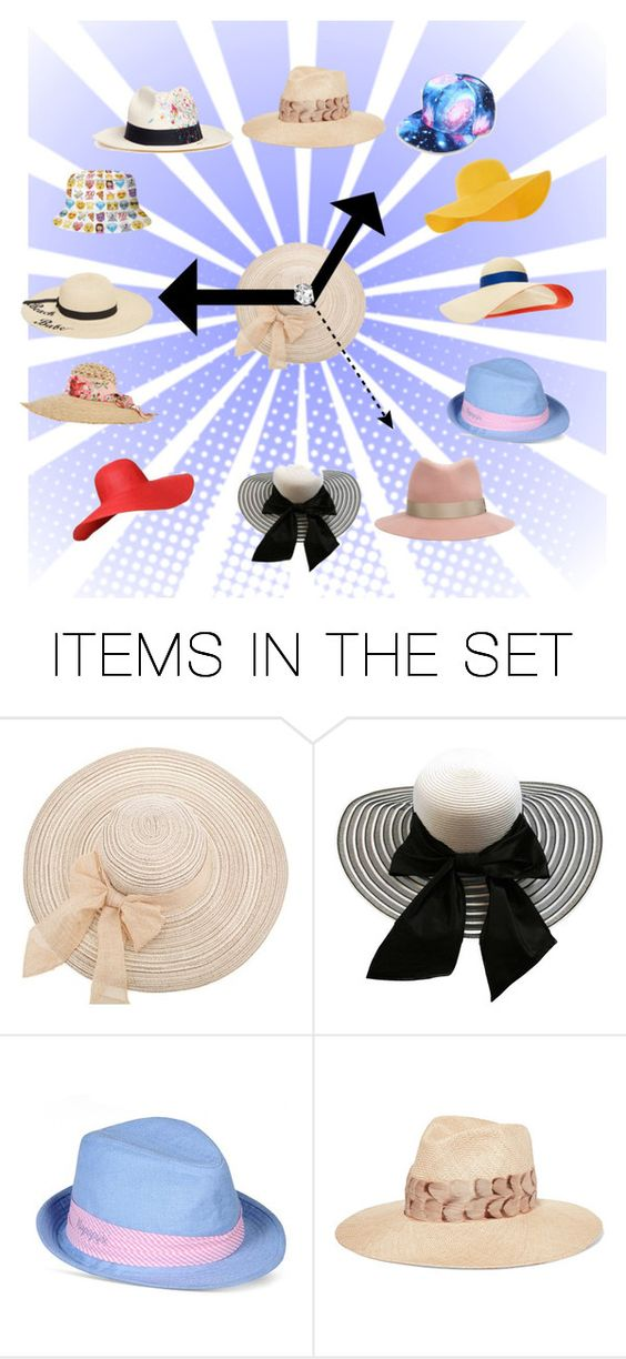 """""""Hat time!  I Love Hats!"""" by mjbogner ❤ liked on Polyvore featuring art"""