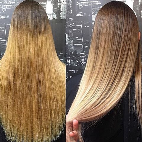 """I did a full head of highlights using Wella Blondor 30 vol and Olaplex. Roots…"