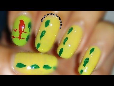 Easy Bird Nail Art Simply Nailart By Karishma Youtube With