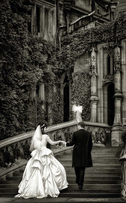 A sepia toned photo highlights the history of the Gothic Victorian home