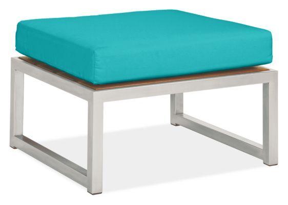 Montego Outdoor Ottoman Cushion Modern Outdoor Sofa Chair