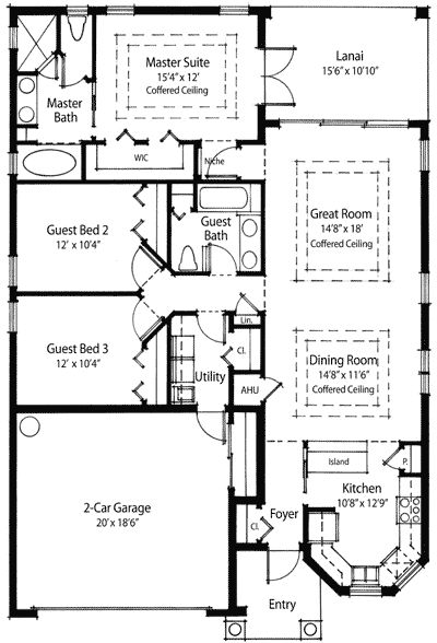 Plan 33044zr energy conscious home plan apartment floor for Narrow apartment plans