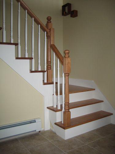 Rampe d 39 escalier int rieur en bois recherche google home inspiration pinterest recherche for Peindre un escalier en blanc