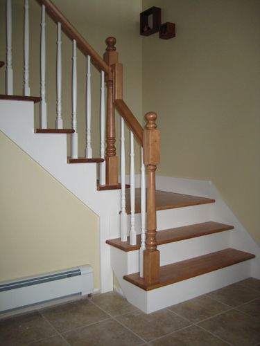 rampe d 39 escalier int rieur en bois recherche google home inspiration pinterest recherche. Black Bedroom Furniture Sets. Home Design Ideas