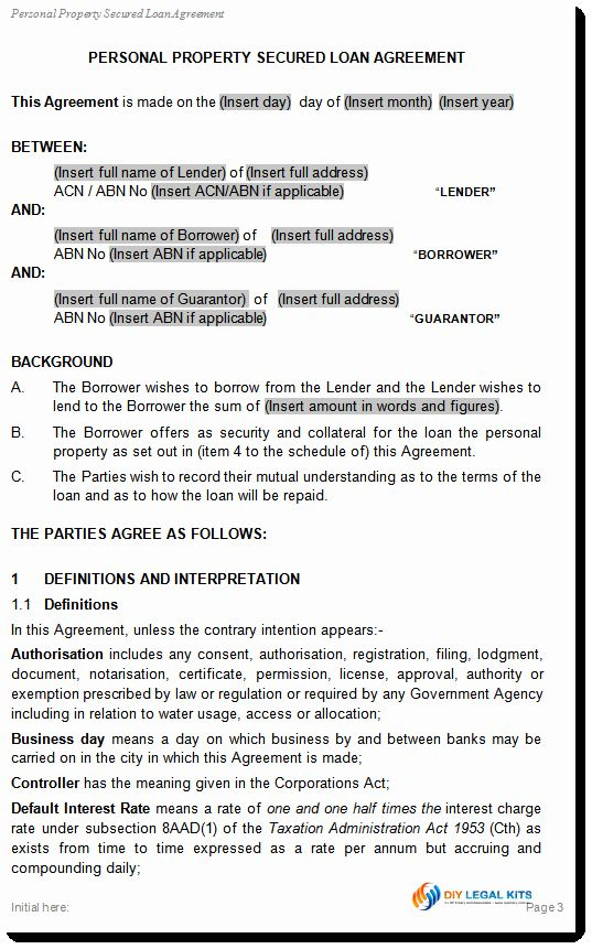 Personal Loan Contract Template Free Best Of Simple And Secured Loan Agreement Personal Loan Template In 2020 Secured Loan Contract Template Personal Loans