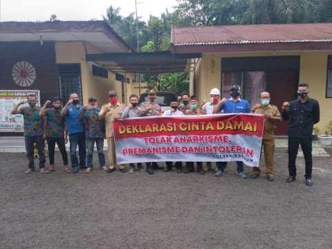 Kapolres Simalungun Ajak Elemen Masyarakat Kelurahan Bangun Bersama Deklarasi Cinta Damai Di 2020 Anarkisme Cinta Humas