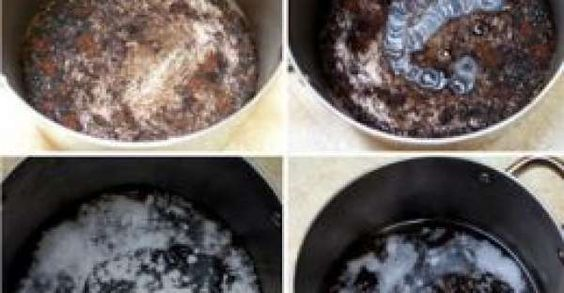 How to clean burned food from your pots or pans in 5 minutes easiest and quickest with step by - Clean burnt pot lessminutes ...