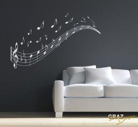 Wandtattoo wandaufkleber musik noten zeile schl ssel - Wandtattoo pusteblume amazon ...