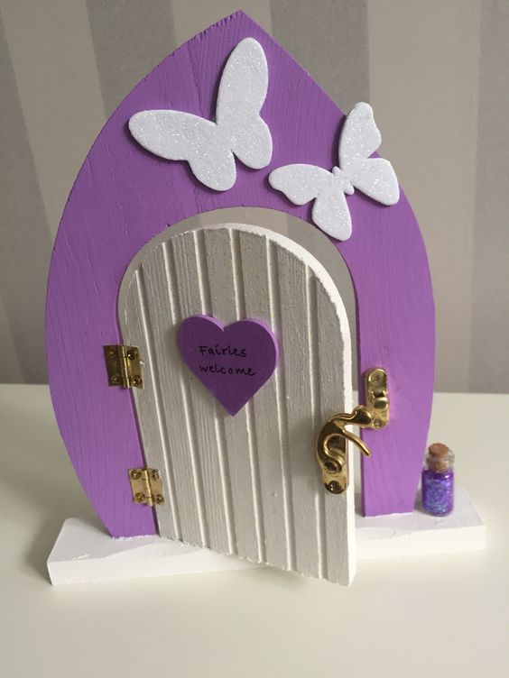 Beautiful hand painted and hand decorated Fairy doors available to buy online at  https://www.etsy.com/uk/shop/TheLittlehCompany?ref=search_shop_redirect