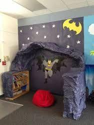 superhero classroom decorations - Batcave reading nook!